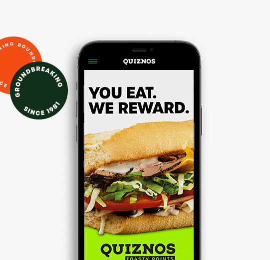 A quicker way to Quiznos Order in the App